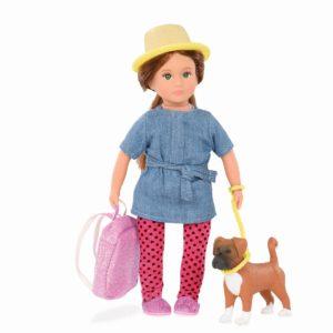 Nadene & Nash | 6-inch Fashion Doll with Pet | Lori