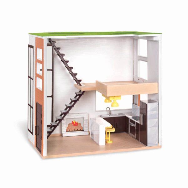 Loft to Love Dollhouse|Miniature Dollhouse Accessories|Lori Doll
