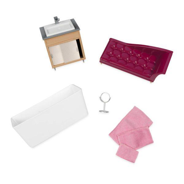 Luxury Bathroom Set   Mini Doll Accessories   Lori®