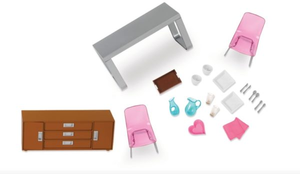 Moderna Dining Set | Mini Doll Accessories | Lori®
