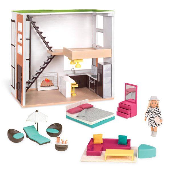 Lori's Loft Dollhouse | Mini Doll Accessories | Lori®